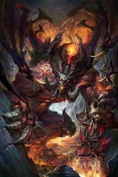 underground demon, jack knight on ArtStation at https://www.artstation.com/artwork/underground-demon
