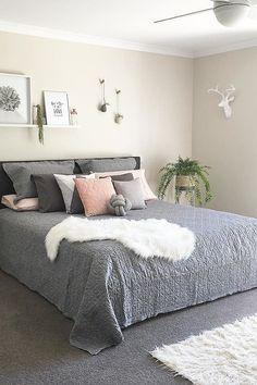 Amazing Scandinavian Bedroom Decor Ideas - New Decoration Master Bedroom Interior, Home Bedroom, Diy Bedroom Decor, Home Decor, Bedroom Themes, Spare Bedroom Ideas, Bedroom Inspo Grey, Bedroom Hacks, Budget Bedroom