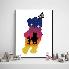 Excited to share the latest addition to my #etsy shop: Winnie the pooh cross stitch disney fairy disneyland movie cartoon baby kids butterfly bear pig- Cross Stitch Pattern (Digital Format - PDF) https://etsy.me/2wVBD0c