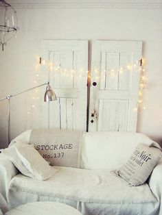the fairy lights add a much needed sparkle