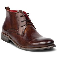#brown #leather #mens #boots