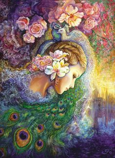 Masterpieces Josephine Wall Peacock Daze Jigsaw Puzzle - 1000 pc