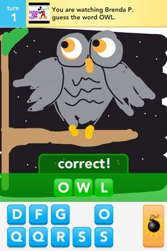 DrawSomething Owl. One of my better pics.