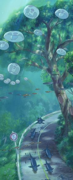 Ponyo on the Cliff by the Sea - Studio Ghibli / Hayao Miyazaki Art Studio Ghibli, Studio Ghibli Films, Studio Ghibli Poster, Hayao Miyazaki, Studio Ghibli Wallpaper, Studio Ghibli Background, Totoro, M Anime, Anime Art