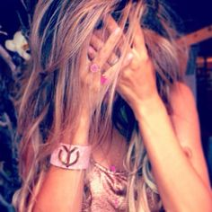 YClabel #pink #leather #bracelet
