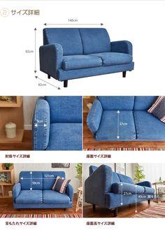 kagu350 | Rakuten Global Market: Jeans 2 p Sofa two seat sofa 2 P sofa couch jeans denim vintage Compact 2-Way corokke