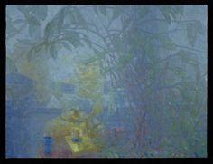 Eric Elliott - Oil on Canvas over panel, 18 x 24 inches Window Light 1