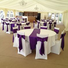 Plum Wedding Chair Covers
