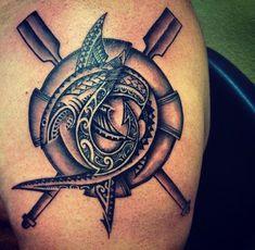 Shark design and tattooed by michael fatutoa Shark Tattoos, Body Tattoos, Tribal Tattoos, Tatoos, Polynesian Tattoos, Hot Guys Tattoos, Tatting, Piercings, Fish