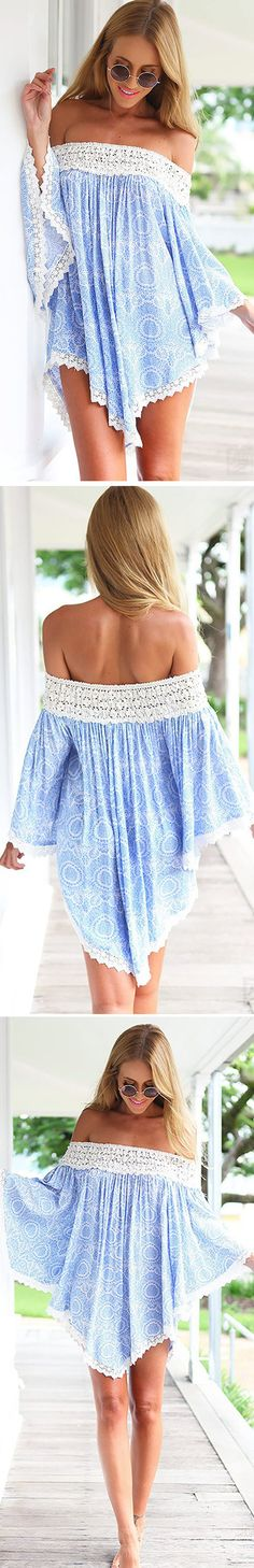 Off the Shoulder Lace Trim Mini Dress,you deserve it. we are very willing to welcome you to pick up your favorite at OASAP!