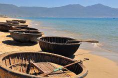 Danang Beach, Danang, Vietnam … The fisherman will offer you a ride!