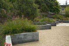 Poured concrete retaining wall by Jeffrey Gordon Smith Landscape Architecture