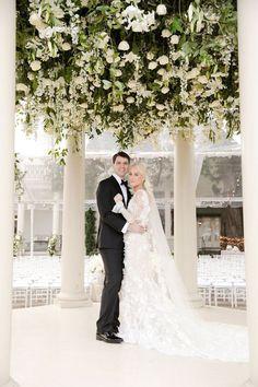 New Orleans Gazebo Wedding with a White Flower Canopy middot Ruffled Luxe Wedding, Elegant Wedding, Floral Wedding, Wedding Flowers, Wedding Altars, Wedding Ceremony, Wedding Venues, Gazebo Wedding Decorations, Southern Charm Wedding