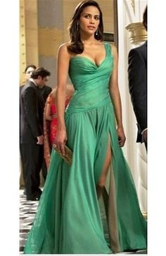 Green maxi dress for event