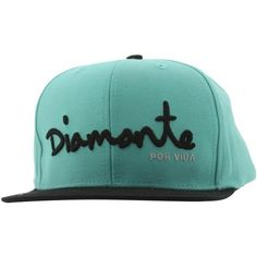Diamond Supply Co Diamante 6 Panel Snapback Cap (diamond blue black) ($40) ❤ liked on Polyvore