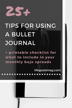 Easy guide on how to start a bullet journal and what to include.