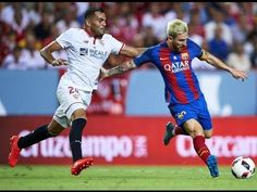 Barcelona vs Sevilla 2016 2-0 All Goals & Extended Highlights Super Cup 2016 || Off Topics Sevilla vs Barcelona 15/08/2016 SUPERCOPA DE ESPAÑA    Luis Suarez was back in the goal-scoring routine as Barcelona claimed a Spanish Supercup advantage with a 2-0 victory away to Sevilla .  Suarez - who scored 59 goals for Barca last season - opened his account for the new campaign early in the second half and substitute Munir added a second nine minutes from time.  The breakthrough came when…