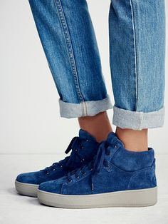 Upsider Hi Top Sneaker | Suede high-top sneakers with a minimal design and padding at topline.   *By J/Slides