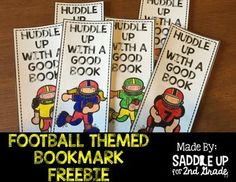 Football season is here! To celebrate, I've created this football themed bookmark. There is a boy and girl version included. Your students can color and decorate it how they'd like. Then laminate for durability. Enjoy!