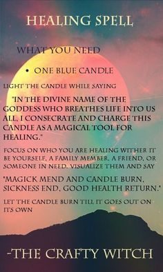 The Crafty Witch: Healing Spell - Pinned by The Mystic's Emporium on Etsy