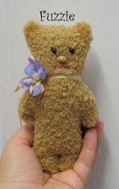 Fuzzie teddy plush bear toy holiday sale gift by Woollybuttbears, $8.99