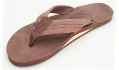 005a8deaebf2 Rainbow Single Layer Premier Leather Sandal (Expresso)