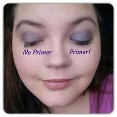 No Primer vs Primer eye shadow comparison www.youniqueproducts.com/AmberDorsey