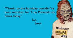 Troy Polamalu hair.#humor