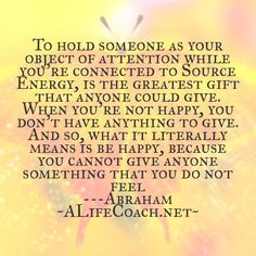 Law of attraction life success quote about being happy from Abraham Hicks.