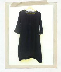 You Compleat me Crinkle Dress - black