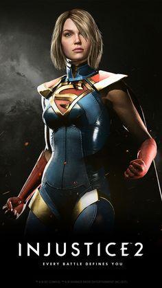 Supergirl in Injustice 2 Heros Comics, Dc Comics Girls, Marvel Girls, Dc Heroes, Marvel Dc, Injustice 2 Supergirl, Dc Injustice, Injustice 2 Characters, Comics