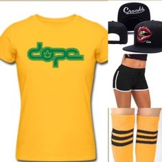 COMBINE & SAVE BY PURCHASING AN ENTIRE OUTFIT  Crooks & Castles Snapback: 14.99 Dope T-Shirt: 24.99 Knee High Socks: 2.49 Booty Shorts: 7.99 Nike Classic Cortez: 74.99 INDIVIDUAL TOTAL: $125.45 NEW TOTAL: $102.86 SAVINGS: $22.59