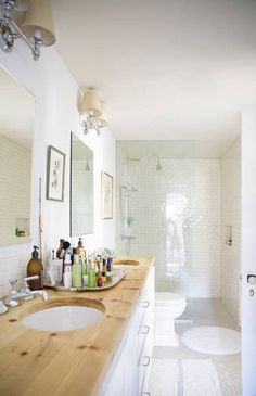 Taupe and White Bathroom