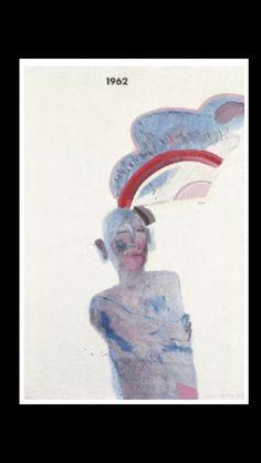 . David Hockney - A Man Thinking, 1962-1963 - Oil and pencil on canvas - 91 x 63 cm