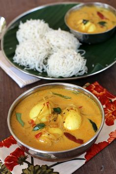 Kerala Egg Curry, a subtly spiced sauce with coconut milk is one of the classic recipes of Kerala dishes. It goes well with Idiyappam, Appam, Puttu & Rotis
