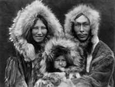 Family Group Noatak Eskimos, By Edward Curtis photographed in 1929.