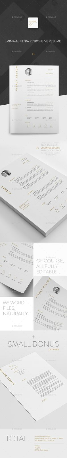 MNML CV / Minimal Clean Resume Nursing Resume Template, Teacher Resume Template, Best Resume Template, Resume Design Template, Resume Layout, Resume Cv, Basic Resume, Professional Resume, Book Design