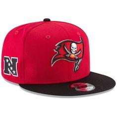 New Era Tampa Bay Buccaneers Baycik Snapback Adjustable Hat - Red Black a47f19b25c20