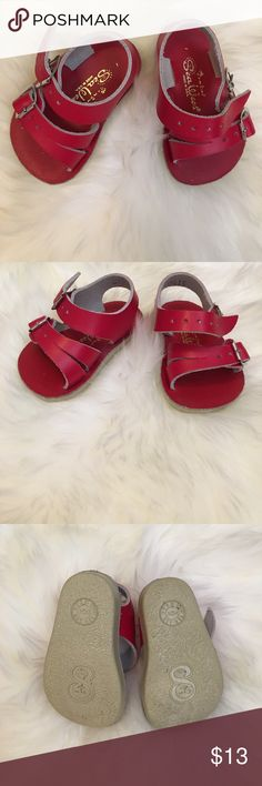 Salt Water Sea Wees Sandals Excellent used condition (worn once for pics on non-walking baby). Sz 1. Red Salt Water Sea Wees sandals. Salt Water Sandals by Hoy Shoes Sandals & Flip Flops