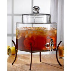 Glass 2-gallon Beverage Dispenser | Overstock.com Shopping - Big Discounts on Beverage Dispensers