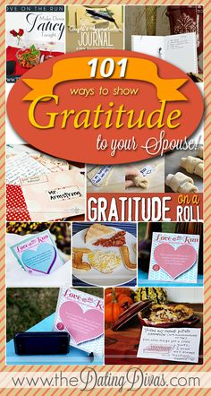 The BEST ideas for a quick 'Thank You' for the hubby! BEST PIN EVER. www.TheDatingDivas.com #thanksgivingforhim #gratitude #waystosaythanks