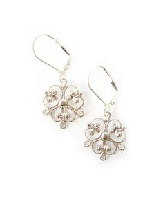 Silver Ornate Filigree Earrings - JewelMint