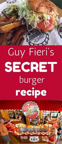 Guy Fieri's Secret Burger Recipe