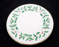Lenox HOLIDAY DIMENSION, Holly & Berry Dinner PLate