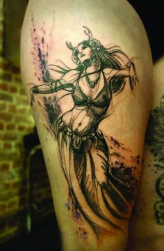 Sketch-style belly dancer by L'Oiseau.