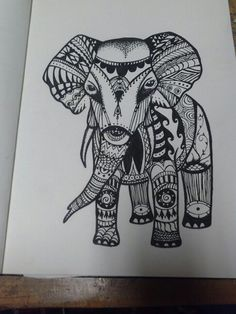 My tribal elephant tattoo sketch Tribal Elephant, Indian Elephant, Elephant Tattoos, Tribal Art, Elephant Drawings, Piercing Tattoo, Piercings, Symbols And Meanings, Tattoo Designs