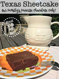I have tasted a few other Texas Sheetcake recipes over the years at other people's homes or at bake sales, and I have never found one that I like better than the one that my Mom made. I guess you love best whichever kind of Texas Sheetcake you grew up with! #TexasSheetcake #Cake #Desserts #FoodKidsWillEat #Recipe via @sharonmomof6