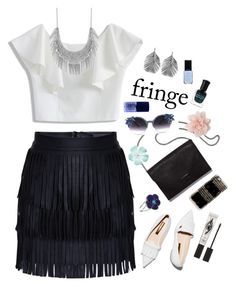 """Fringe & Flowers"" by anetacerna ❤ liked on Polyvore featuring Rupert Sanderson, Alex Monroe, Chicwish, Lucky Brand, Loeffler Randall, Forever 21, NARS Cosmetics, Deborah Lippmann, Casetify and Eyeko"
