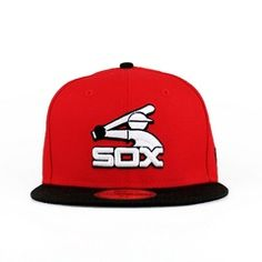 Chicago White Sox Red & Black (Gray Under) Black And Grey, Red Black, Gray, Mlb Reds, Cubs Hat, New Era Fitted, Fitted Caps, Chicago White Sox, Cool Hats
