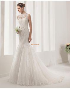 Sirène Scintillant & brillant Sans manches Robes de mariée 2015